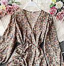 Шифонове плаття з запахом в квітковий принт і затяжкою на спідниці (р. 42-44) 68032367, фото 7
