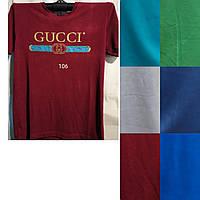 Чоловіча трикотажна футболка Gucci розмір норма 48-52, колір міксом