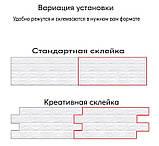Самоклеюча декоративна 3D панель під сірий катеринославський цегла 3д самоклейка для стін, фото 9