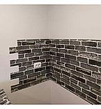 Самоклеюча декоративна 3D панель під сірий катеринославський цегла 3д самоклейка для стін, фото 5