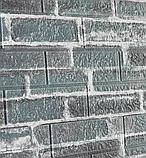 Самоклеюча декоративна 3D панель під сірий катеринославський цегла 3д самоклейка для стін, фото 3