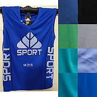 Чоловіча трикотажна майка Sport розмір норма 48-52, колір міксом