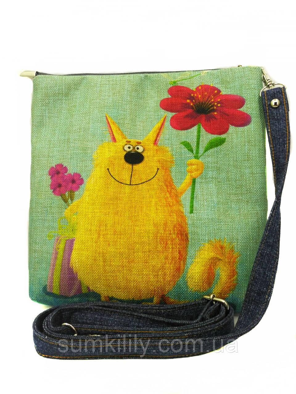 Джинсова сумочка З днем народження 2