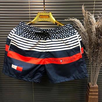 Мужские шорты пляжные летние, плавательные шорты мужские Tommy Hilfiger (реплика)