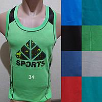 Мужская трикотажная борцовка Sports размер норма 48-52, цвета миксом