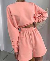 Спортивний костюм жіночий з шортами в стилі спорт-шик (Норма), фото 2