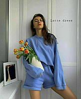 Спортивний костюм жіночий з шортами в стилі спорт-шик (Норма), фото 6