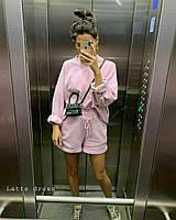 Спортивний костюм жіночий з шортами в стилі спорт-шик (Норма), фото 7