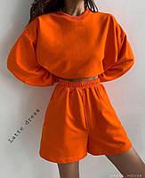 Спортивний костюм жіночий з шортами в стилі спорт-шик (Норма), фото 8