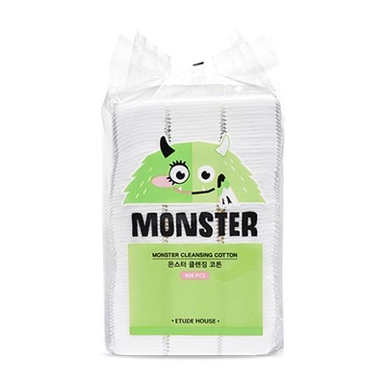 Etude House Monster Cleansing Cotton Ватные квадраты, 408 шт