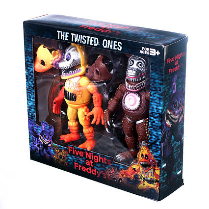 Кошмарні Аніматроніки з гри П'ять Ночей з Фредді Набір фигурок 6 видів по 2 фігурки в наборі