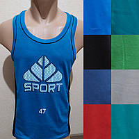 Мужская трикотажная борцовка Sport размер норма 48-52, цвета миксом