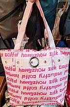 Пляжная летняя женская сумка из текстиля 32*34 см