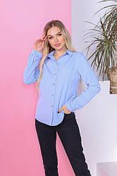 Блузка  рубашка классика женская длинный рукав
