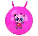 М'яч стрибун дитячий з ріжками з шипами, гімнастичний м'яч, фітбол для дітей арт.CB5503-55см, фото 5