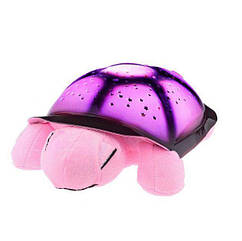 Музыкальный ночник-проектор черепаха MHZ Розовая 002007, КОД: 1766019