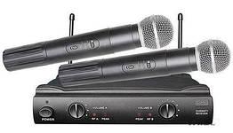 Радиосистема UKC UT-24 SM58II 2 беспроводных микрофона Черный 006868, КОД: 1766063