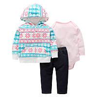 Комплект для дівчинки 3 в 1 Сніжинка Berni Kids