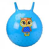 М'яч стрибун дитячий з ріжками з шипами, гімнастичний м'яч, фітбол для дітей арт.CB5503-55см, фото 2