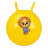 М'яч стрибун дитячий з ріжками з шипами, гімнастичний м'яч, фітбол для дітей арт.CB5503-55см, фото 3