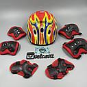 Комплект захисту для підлітків, налокітники, наколінники, рукавички+ШОЛОМ, фото 7