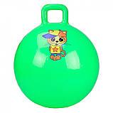 """Мяч прыгун детский для фитнеса с ручкой """"Гиря"""", гимнастический мяч, фитбол для детей арт.CB4502-45см, фото 2"""