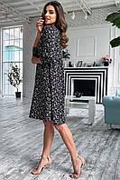 Легке повітряне плаття чорного кольору, літній, вільний крій