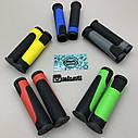Яркие резиновые грипсы на велосипед, фото 4