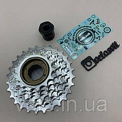 Тріскачка для велосипеда на 7 швидкостей хромована