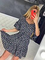 Стильное модное тонкое цветочное платье на лето приталенное «Фиорентина» - 42,44,46, разные расцветки