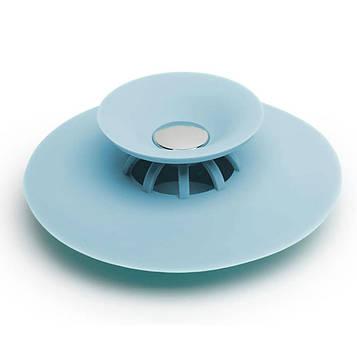 """Сеточка в раковину """"Flex Drain Stop, Фиолет"""" из силикона пробка для кухонной мойки (раковины) (SV)"""