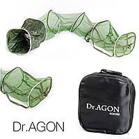 Рыболовный садок прорезиняный Dr.AGON 46*35*250 см.