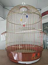 Клетка для птиц круглая с внешними кормушками цвета хамелеон 33*56 см