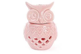 Арома-лампа Сова 12см, цвет - розовый BonaDi 797-415