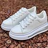 Кросівки жіночі білі на товстій високій підошві, фото 2