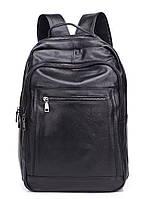 Чоловічий шкіряний рюкзак для ноутбука і поїздок Tiding Bag B2-14657A чорний, фото 2