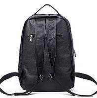 Чоловічий шкіряний рюкзак для ноутбука і поїздок Tiding Bag B2-14657A чорний, фото 6