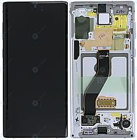 Дисплей для Samsung Galaxy Note 10 N970, модуль (экран и сенсор), aura white, оригинал (GH82-20818B), фото 1