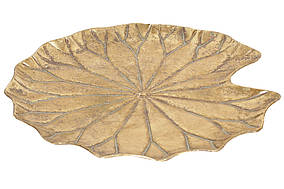 Металеве Блюдо Листок Лотоса, 41см BonaDi 589-188