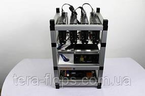 Майнинг ферма, риг на 4 видеокарты (96 MH/s / RX 470 4GB
