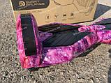 Гироборд Smart Balance Гироскутер 8 дюймов  от 4х лет Фиолетовый космос + ПОДАРОК СУМОЧКА, фото 3
