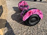 Гироборд Smart Balance Гироскутер 8 дюймов  от 4х лет Фиолетовый космос + ПОДАРОК СУМОЧКА, фото 2