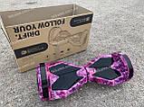 Гироборд Smart Balance Гироскутер 8 дюймов  от 4х лет Фиолетовый космос + ПОДАРОК СУМОЧКА, фото 7