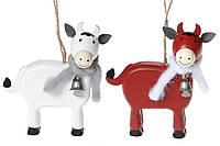 Новогодняя подвеска Корова 13.5см, 2 вида BonaDi 785-310