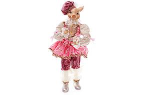 Декоративна фігура Порося 40см, колір - рожевий BonaDi NY14-431