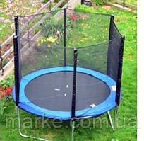 Батут садовый садовий Funfit ORIGINAL 183см (6ft) диаметр с внешней сеткой спортивный для детей и взрослых