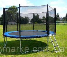 Батут садовый садовий Funfit ORIGINAL 404см (13ft) диаметр с внешней сеткой спортивный для детей и взрослых