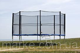 Батут садовый садовий Funfit ORIGINAL 435см (14ft) диаметр с внешней сеткой спортивный для детей и взрослых