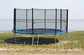Батут садовый садовий Funfit ORIGINAL 465см (15ft) диаметр с внешней сеткой спортивный для детей и взрослых