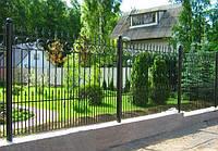 Кованые арочные решетки на кирпичный забор